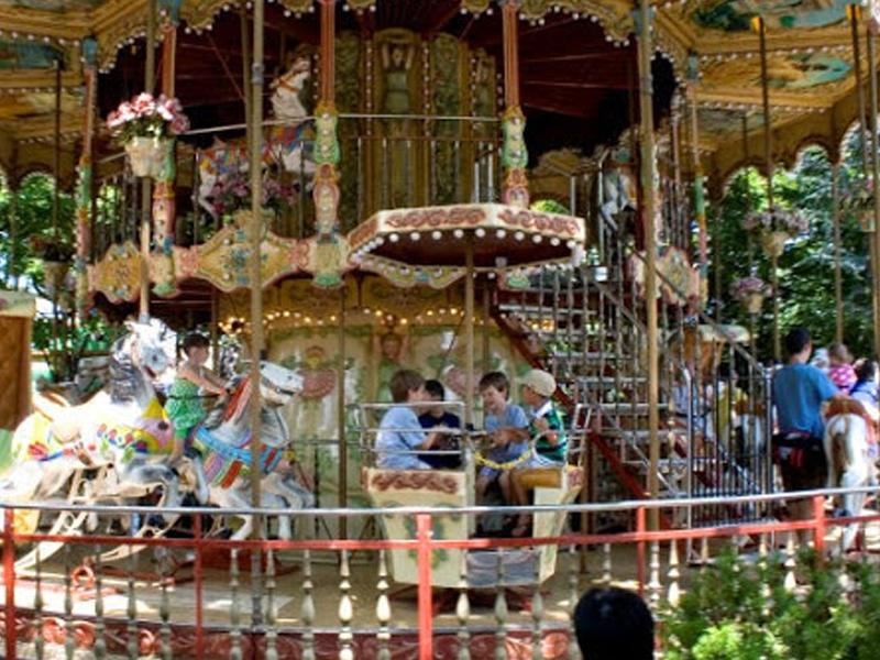 Merry Go Round Adventureland Amusement Park Long Island