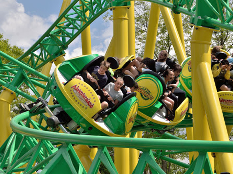 Turbulence Coaster Adventureland Amusement Park Long