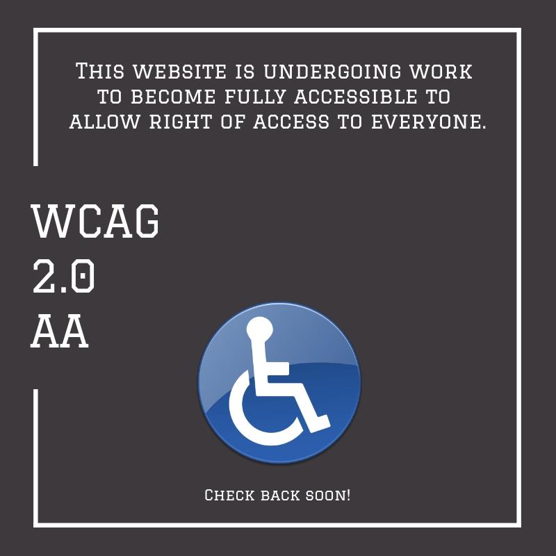 website undergoing WCAG 2.0 AA work