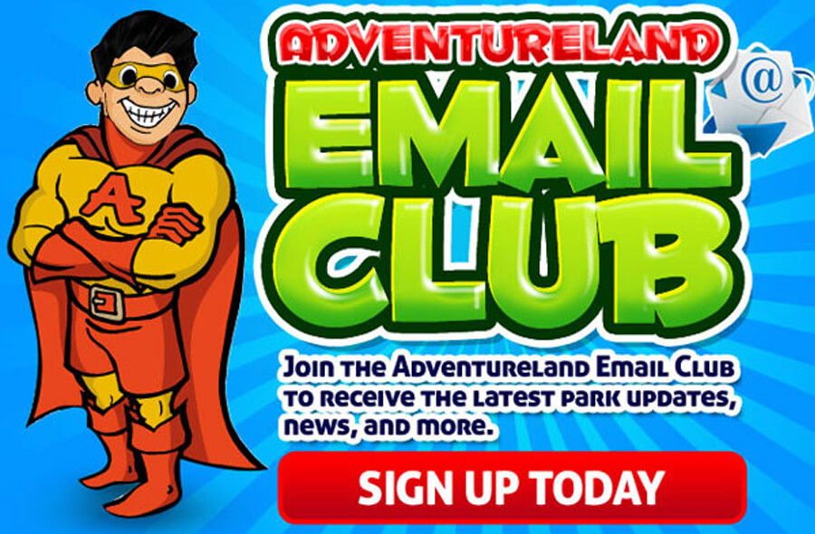 Adventureland Email Club