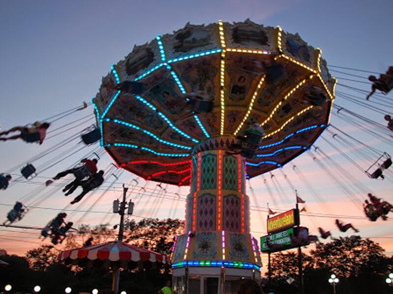 Wave Swing Adventureland Amusement Park Long Island New York