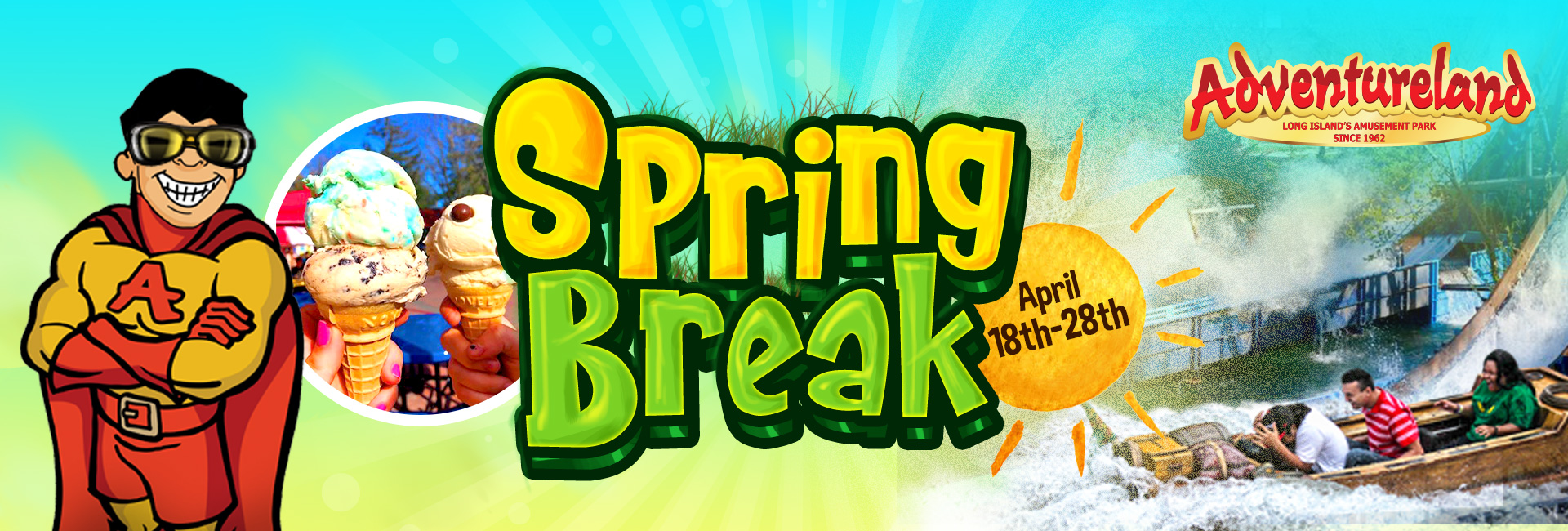 Park open daily for Spring Break April 18th- April 28th