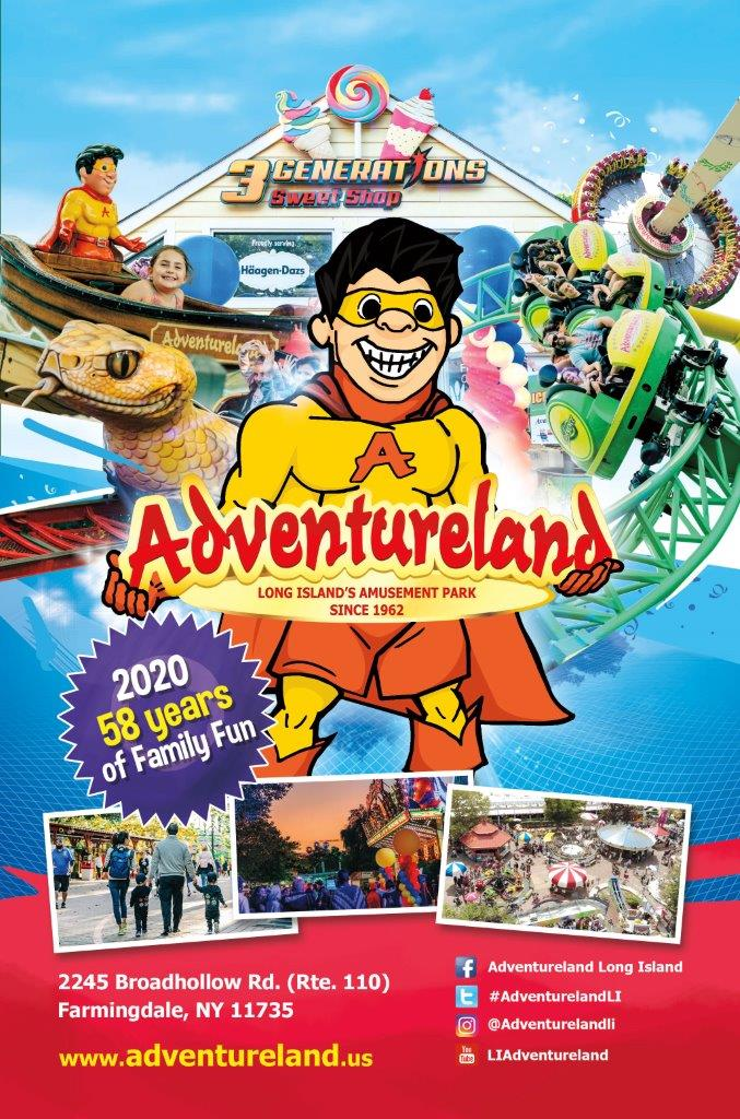 Adventureland Image with Rides and 3 Generations Sweet Shop